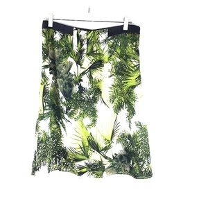 Worthington Women's Skirt Sz 10 Green A-Line 2A